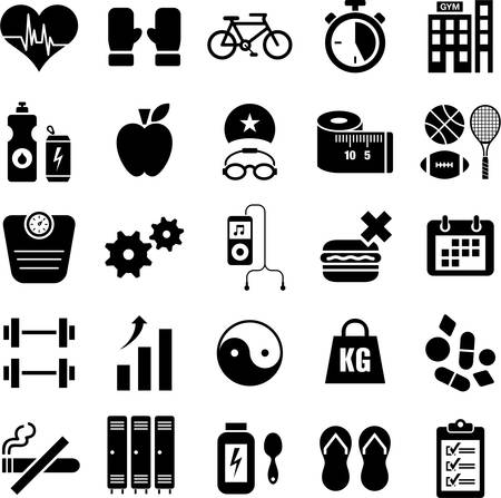 bicycle icon: Health and wellness icons