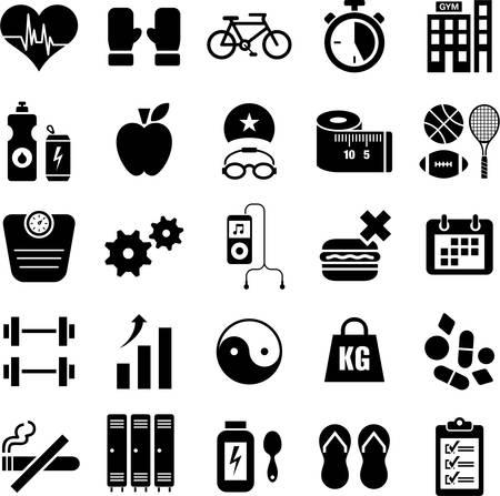 huincha de medir: Iconos de salud y bienestar Vectores