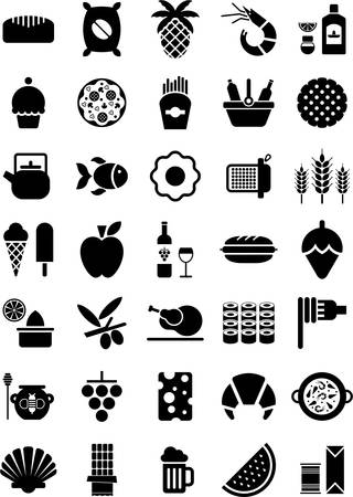 tentempi�: Los iconos de los alimentos