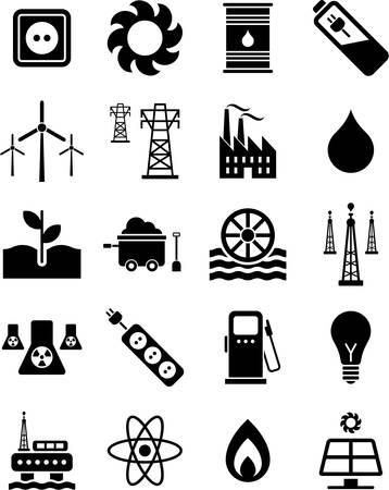 Los iconos de la energía Foto de archivo - 23644325