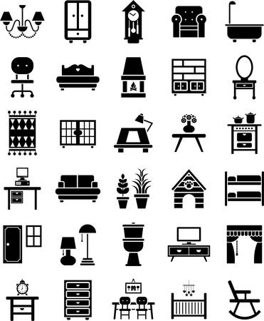 moving office: Furniture icons