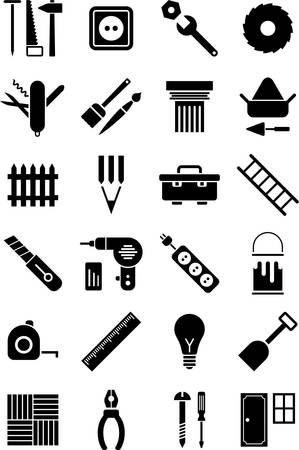 DIY tools icons Stock Illustratie