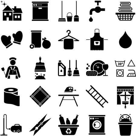 vacuum cleaning: House Cleaning icons