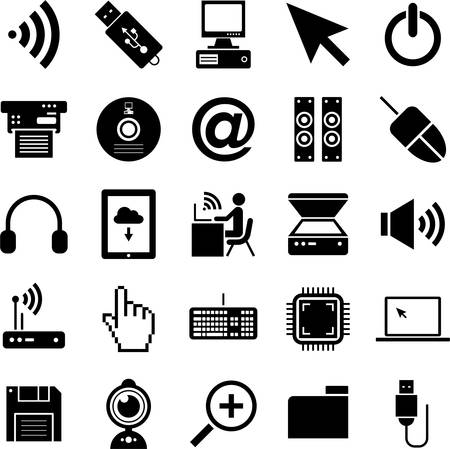 Computer iconen Stock Illustratie