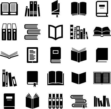 digital book: Set of Book icons