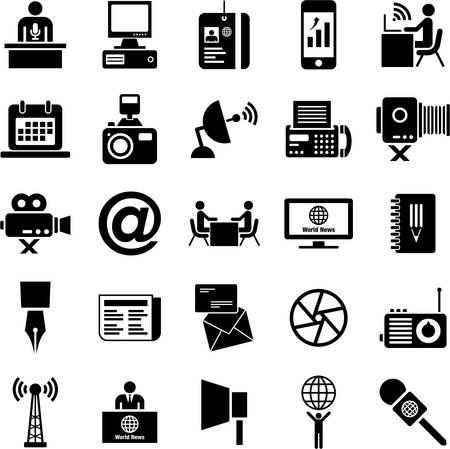 Icone di Mass media Vettoriali