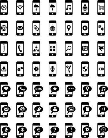 telephony: Smartphones With Different icons on the screen