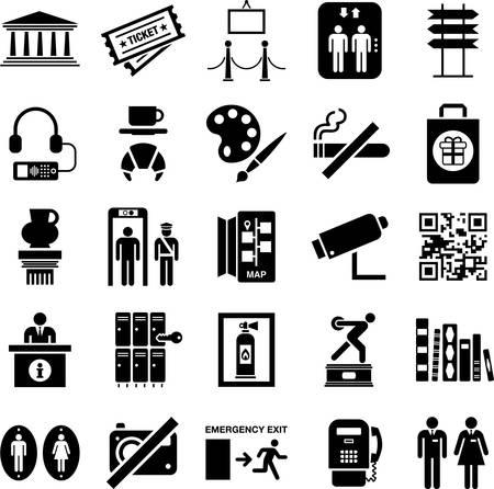 exposición: Iconos del Museo Vectores