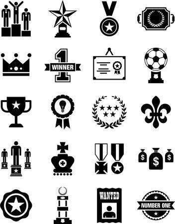 reconocimiento: Premios y reconocimientos iconos Vectores