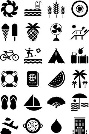 Summer icons Illustration
