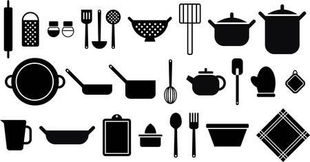 Kitchen utensils Stock Illustratie