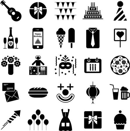 Party icons Vectores