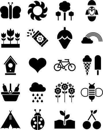 four seasons: Spring icons