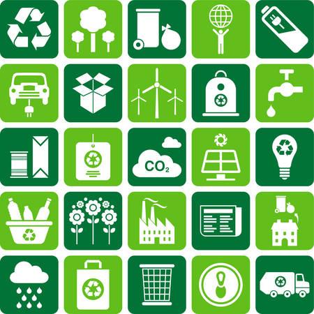 Icônes de recyclage Banque d'images - 23644401