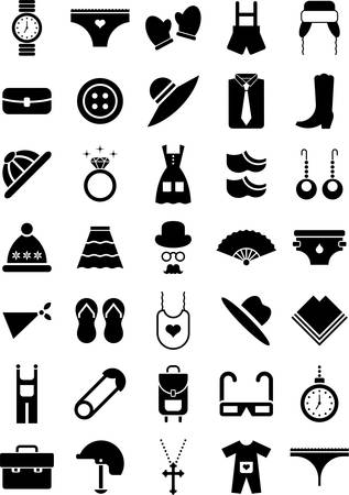 t shirt blouse: Clothing and Accessories icons Illustration