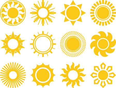 Set of vectorized Suns Vector
