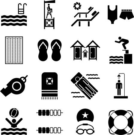 swimming glasses: Swimming Pool icons