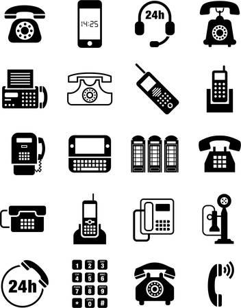 mobile headset: Los iconos de tel�fono