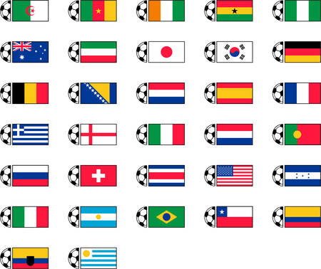 football fan: Soccer Ball and Country Flags