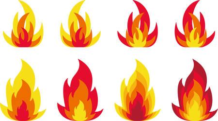 llamas de fuego: Llamas