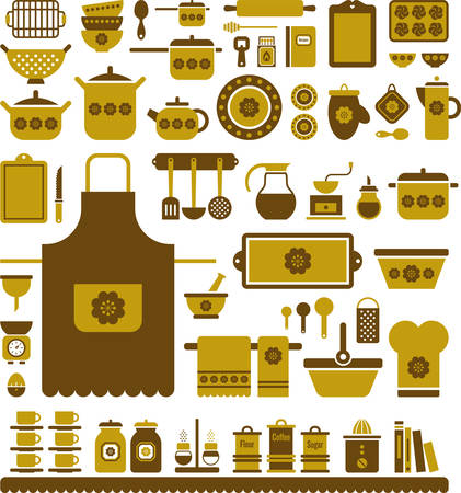 Kitchen Retro Utensils Vector