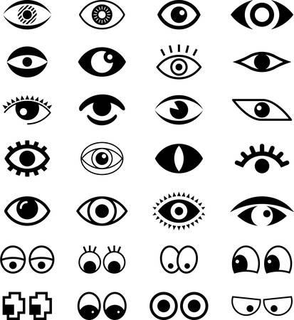 Ojos Ilustración de vector
