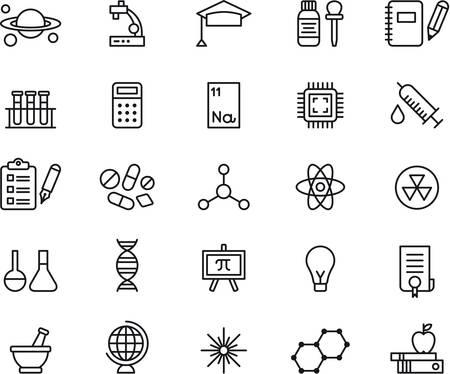 molecula: CIENCIA esbozó iconos Vectores
