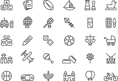 toy plane: TOYS outlined icons