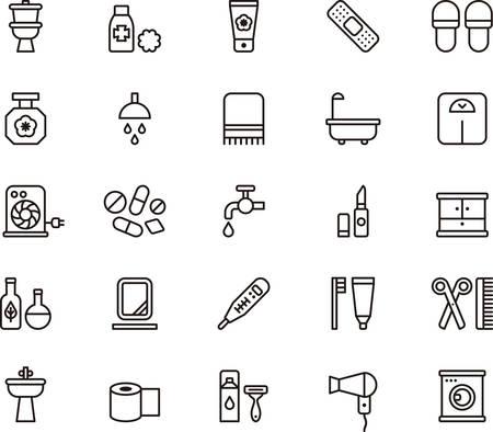 BAÑO esbozado iconos Foto de archivo - 45315520
