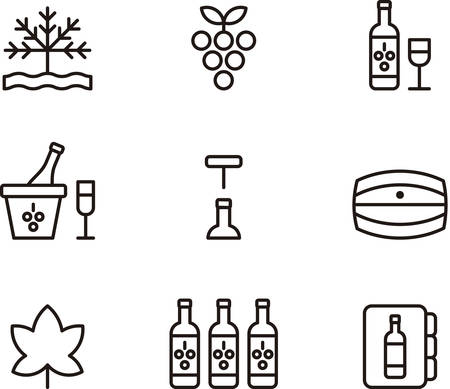 outlined: WINE outlined icons