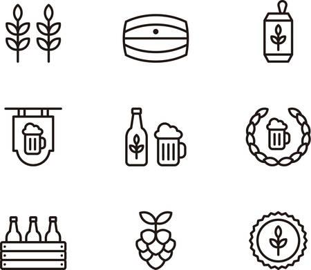 tarro cerveza: CERVEZA esbozado iconos