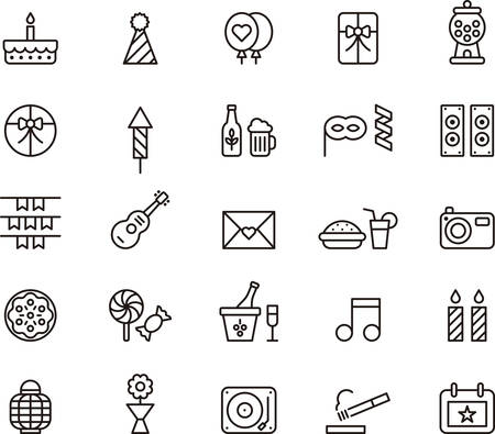 BIRTHDAY PARTYoutlined icons
