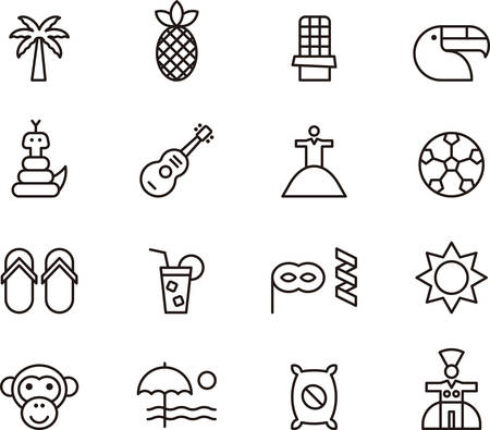 outlined: BRAZIL outlined icons