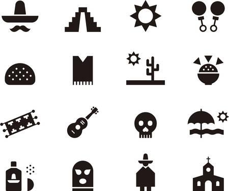 mexico beach: MEXICO icons