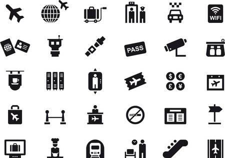 AIRPORT icons Vektorové ilustrace