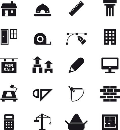 architecture: ARCHITECTURE & CONSTRUCTION icons Illustration