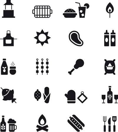 iconos para barbacoa