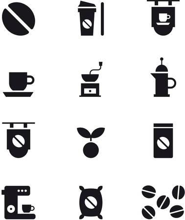 coffee sack: COFFEE icons