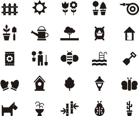 garden fountain: GARDENING icons