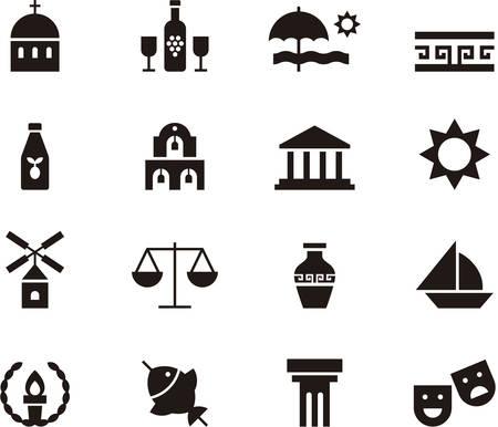 archeology: GREECE icons