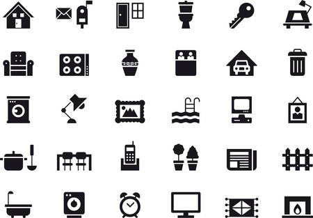 fireside: HOME RELATED icons
