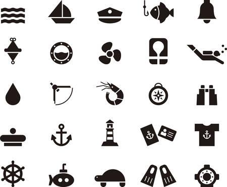 marine ship: NAUTICAL MARINE & icons