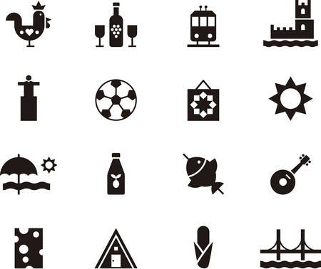 port wine: PORTUGAL icons