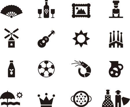 SPANJE pictogrammen