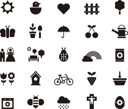 fruit basket: SPRING icons