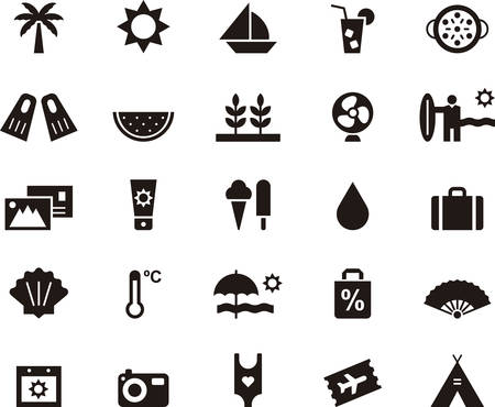 summertime: SUMMER icons