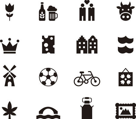 the netherlands: NETHERLANDS icons