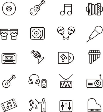 panpipe: MUSIC outline icons