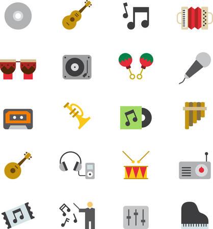 zampona: iconos de la música Vectores