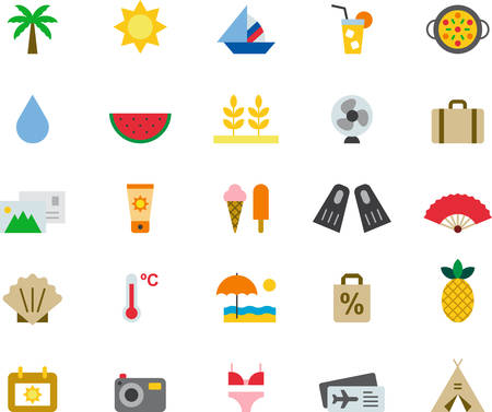 watermelon boat: SUMMER icons